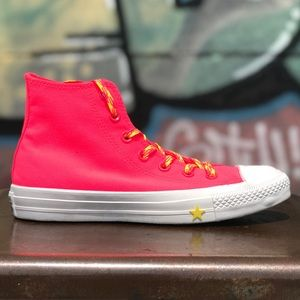 Converse CTAS Hi Glow Up Neon Racer Pink Sneakers